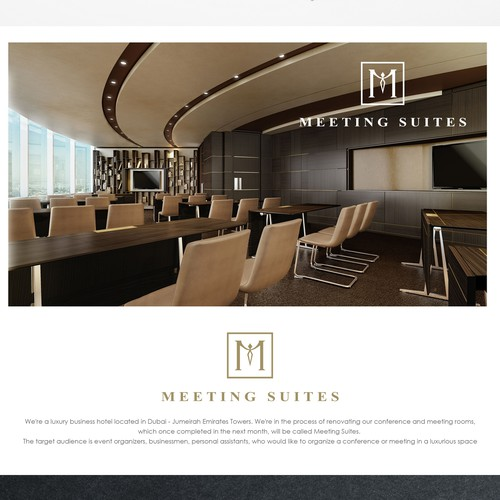 Create a brand ID for conference facilities within a luxury business hotel in Dubai