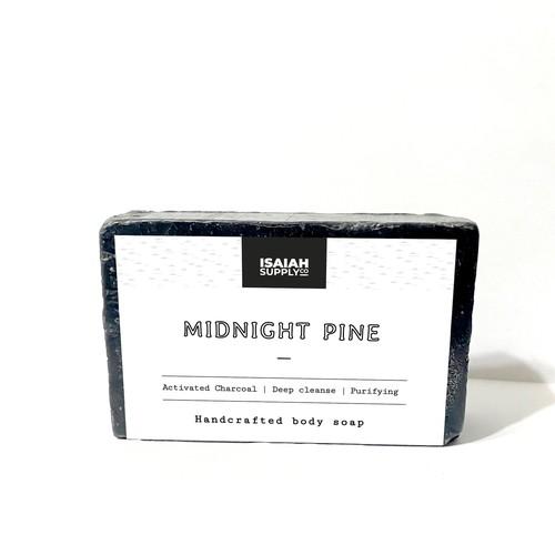 Minimalist man soap packaging