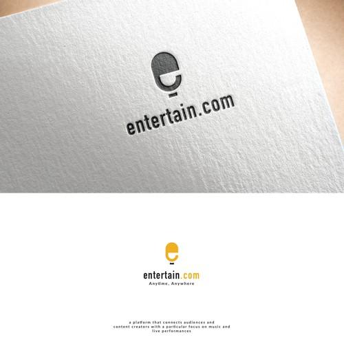 logo concept for entertain.com