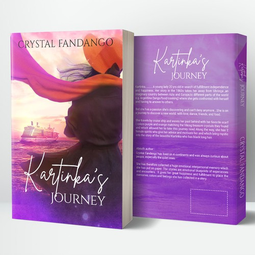 Book cover design for Kartinka's Journey