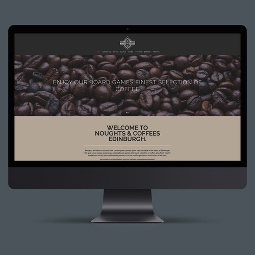 Website for Noughts and Coffees Board Game cafe