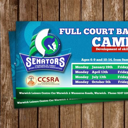 Create a Full Court Basketball Holiday Clinics Flyer