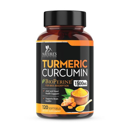 Turmeric Product Label for Nature's Nutrition