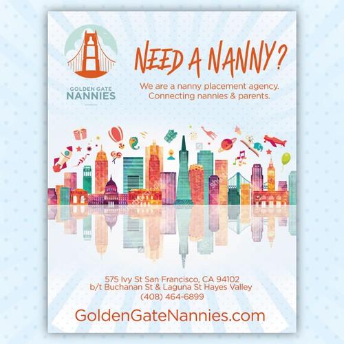 Nanny Agency poster & flyer