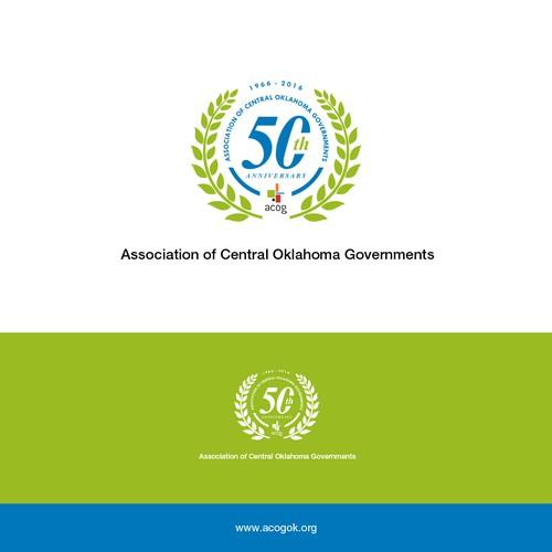 Anniversary logo of ACOG