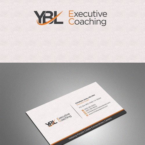 Create a high end business card for executive coaching business