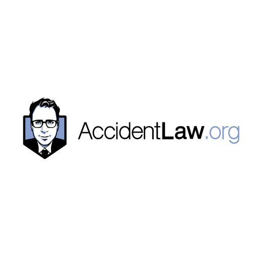 A cartoon-ish lawyer logo for website