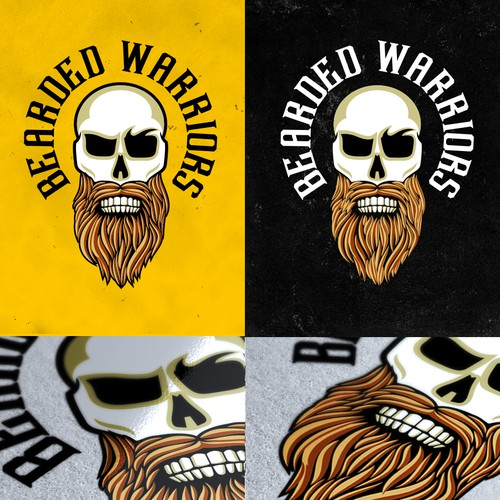 Masculine Design with Skull and Beard
