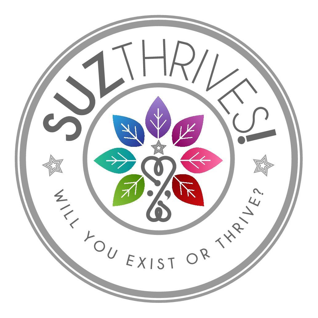 Create a playful tree of life logo for SuzThrives!