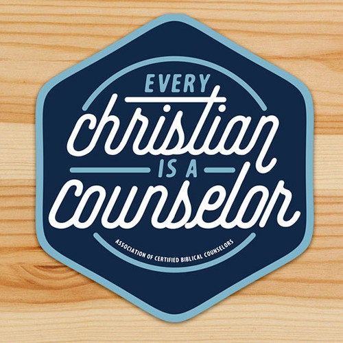 Christian counseling sticker that starts a conversation