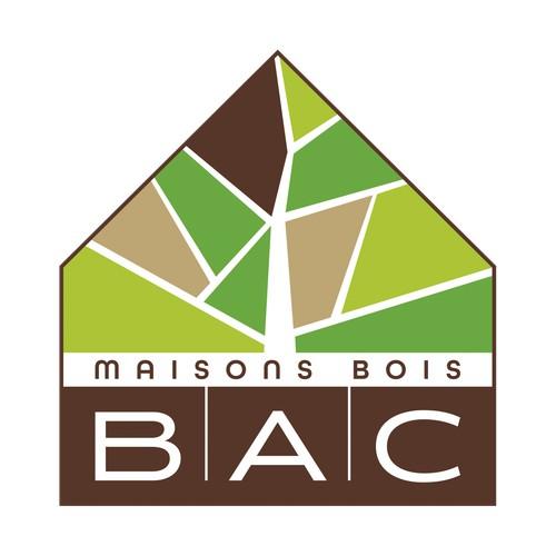 Logo destiné à un spécialiste de la construction en bois