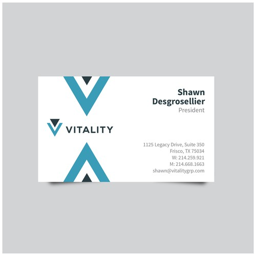 Business Card Design for VITALITY