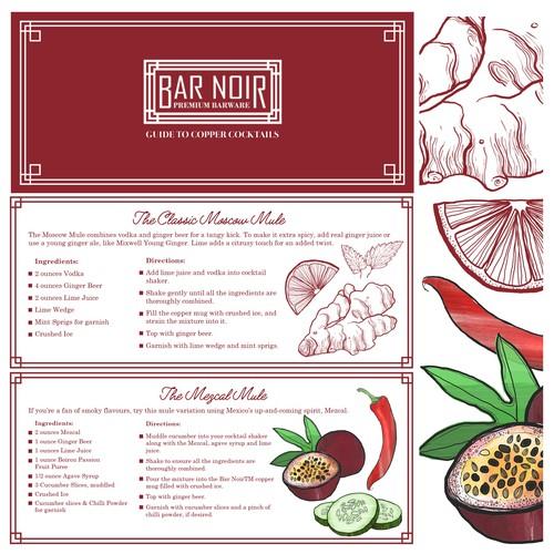 Cocktail Leaflet Design & Illustrations