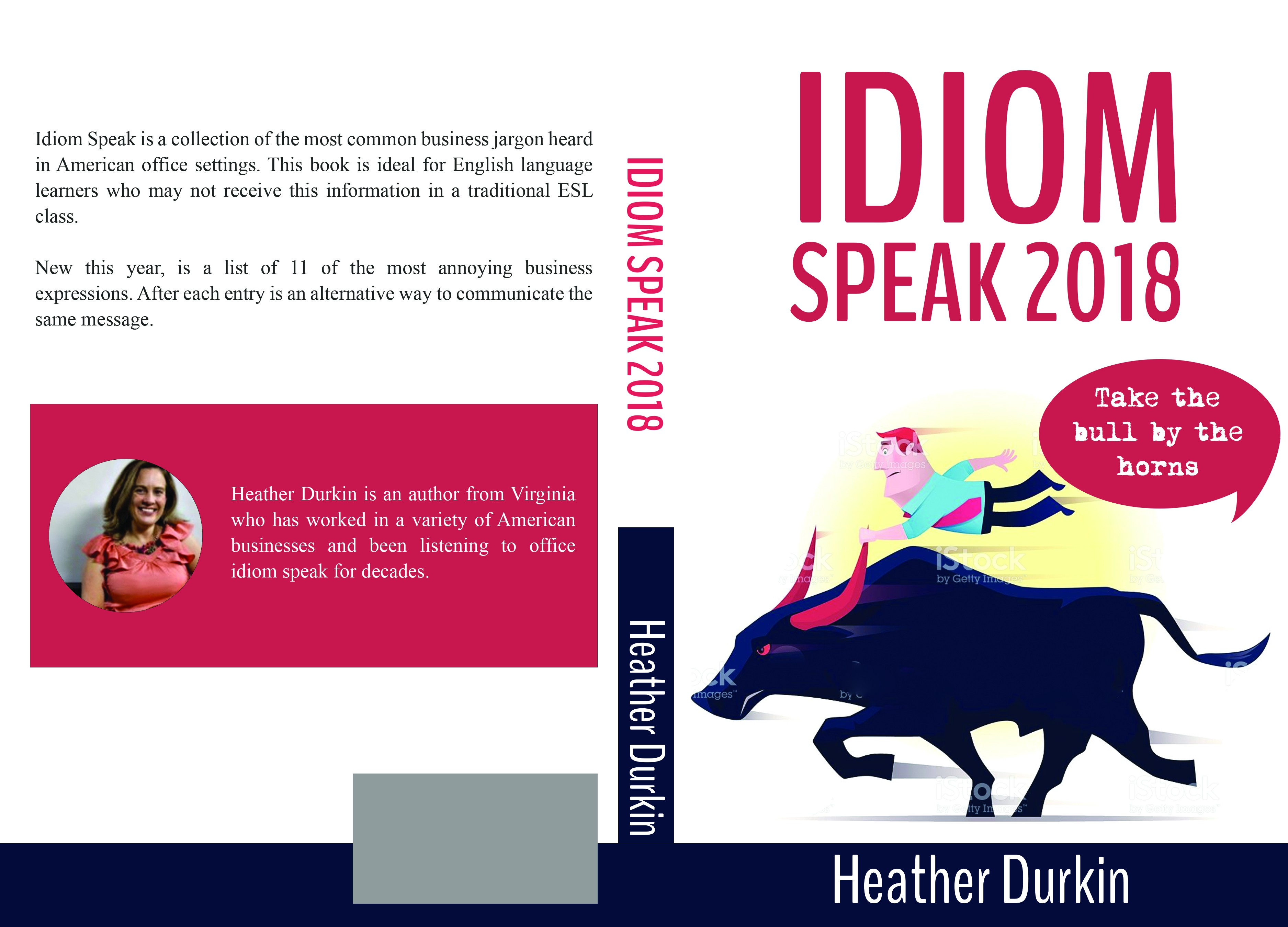 Create a playful book cover for silly business jargon