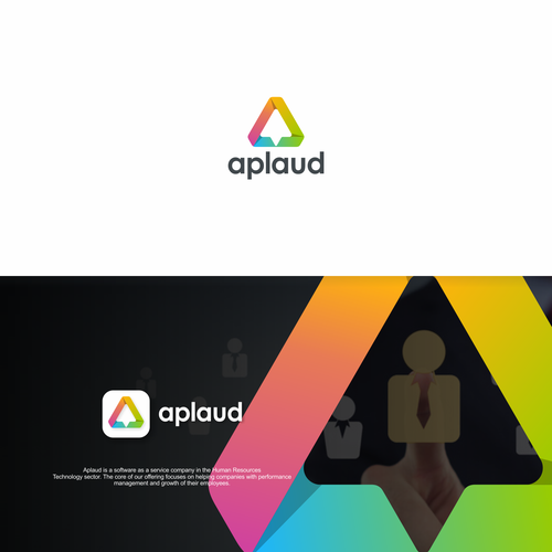 """simple design concept of the abstract triangle """"A"""" logo and incorporated the growth symbol I created like an upward arrow inside the logo."""