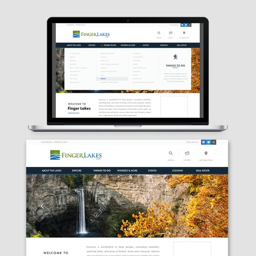 Web Page Design for FigerLakes.com