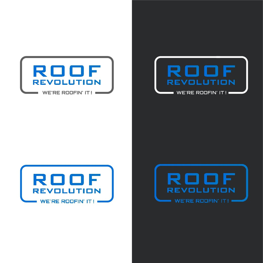 Design a sleek/modern logo/business card design for a roofing company