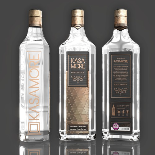 KASA Brandy's label design