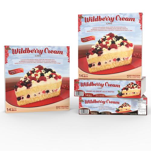 Wrap design for Wildberry Cream Cake by Sweet Sofia's Bakery (USA)