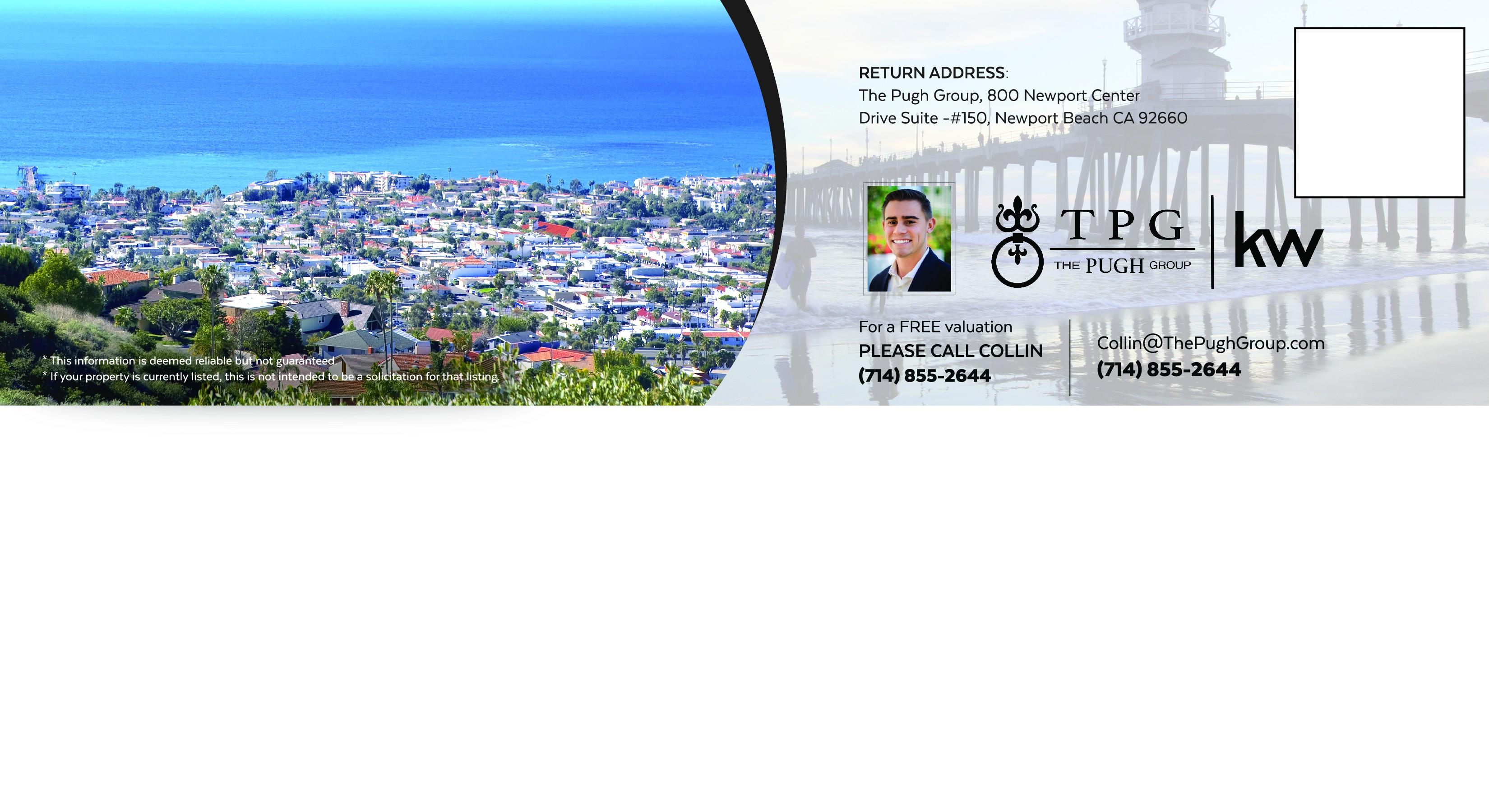 Design a postcard for a real estate company in Orange County, CA