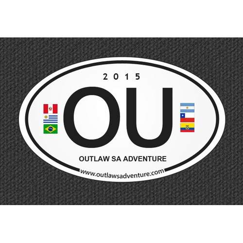 Custom Travel Adventure Sticker (South America)