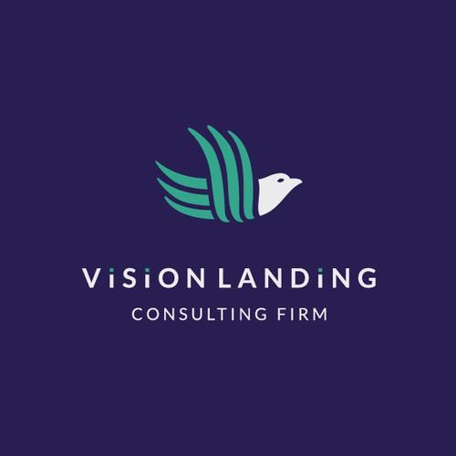 Bird logo for Vision Landing