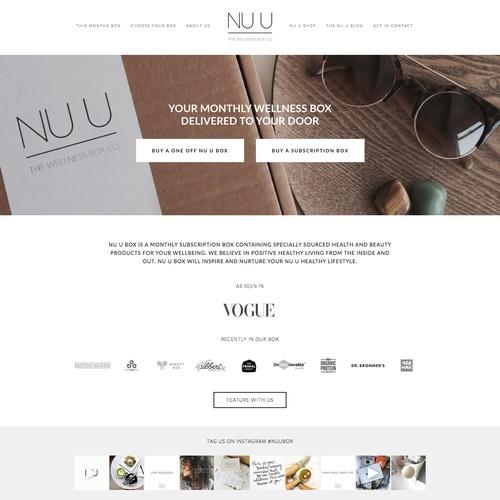 Website design for NU U