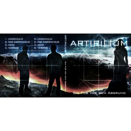 "CD Album Cover (front/back) for german metal band ""Artirilium"""