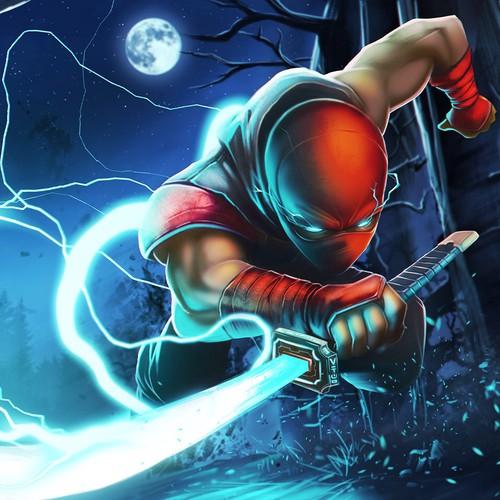 Ninja running pose