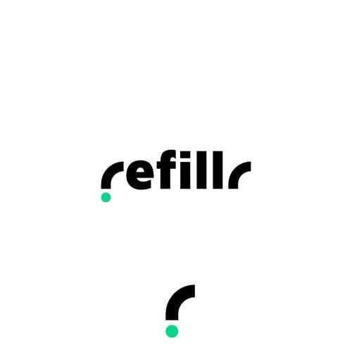 Refillr logo design