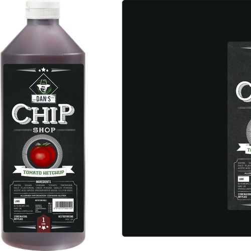 Help Dan's Chip Shop Sauces with a new product label