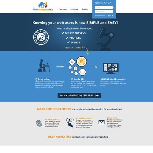 Web Intelligence HQ needs a new website design