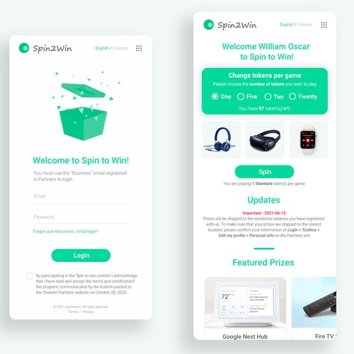 web-based incentive application
