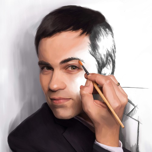 self-drawing picture