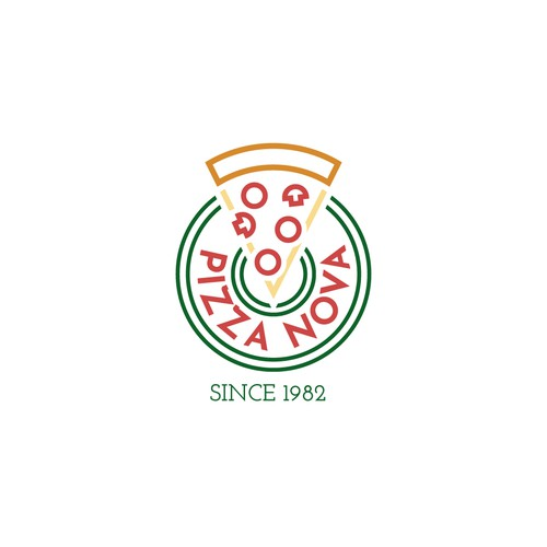 Pizza Nova Logo Concept