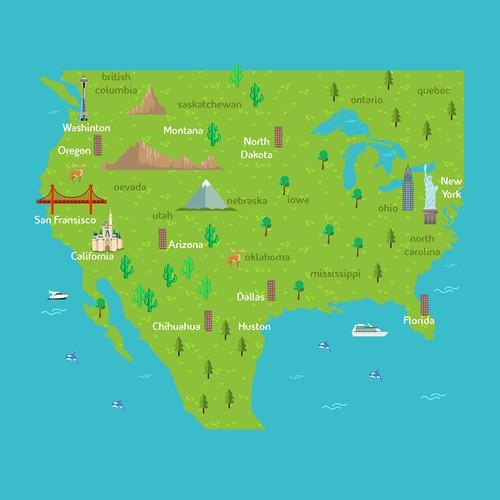 travel maps concept