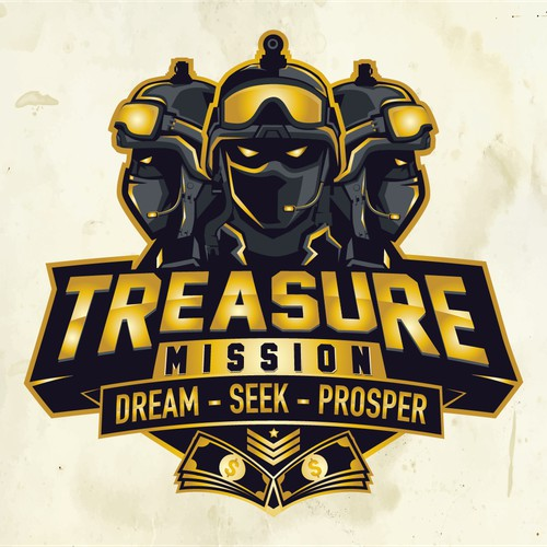 treasure mission logo concept