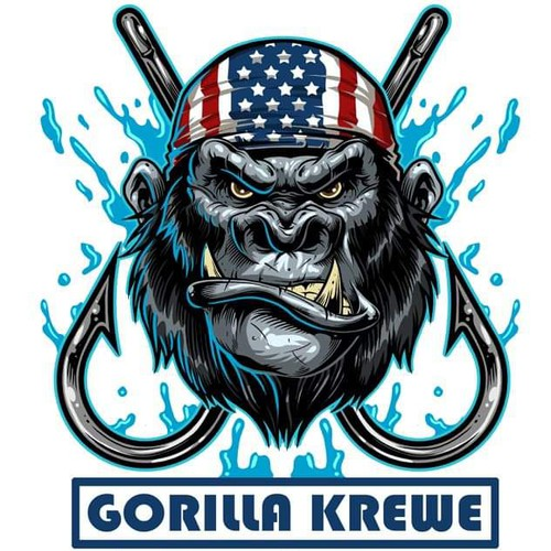 Gorilla krewe tshirr and logo design