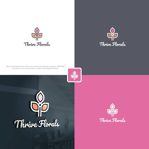 Designed a logo for Flowers