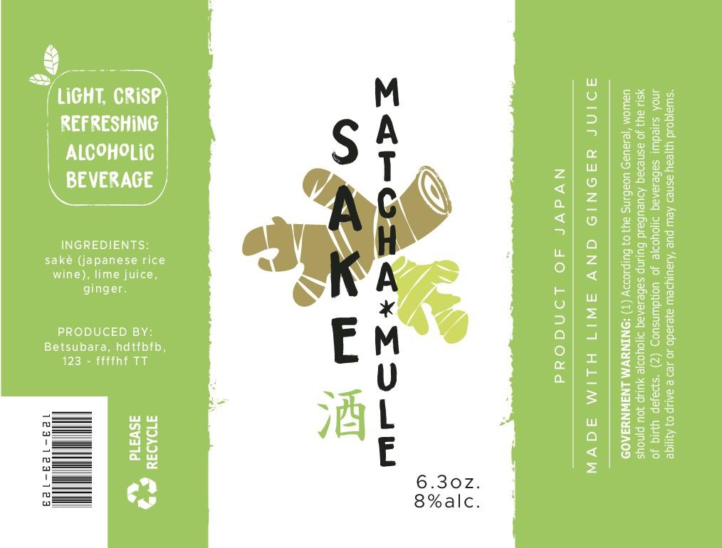 Label for Sake Beverage