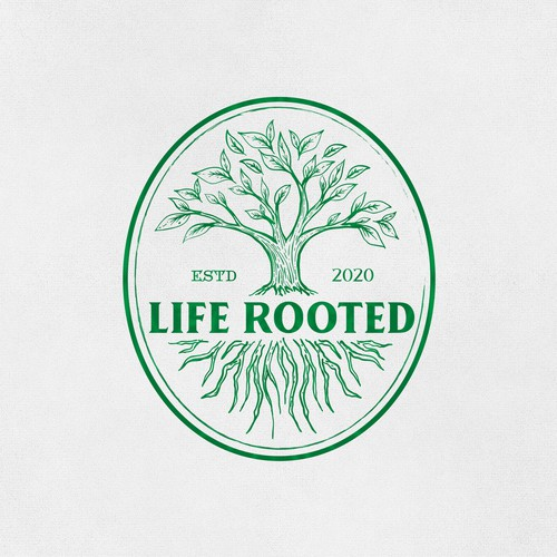 logo concept for Life Rooted