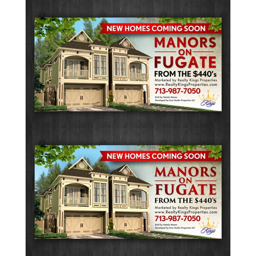 Need Banner Designed for New Homes