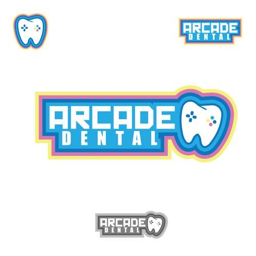 arcade dental logo concept