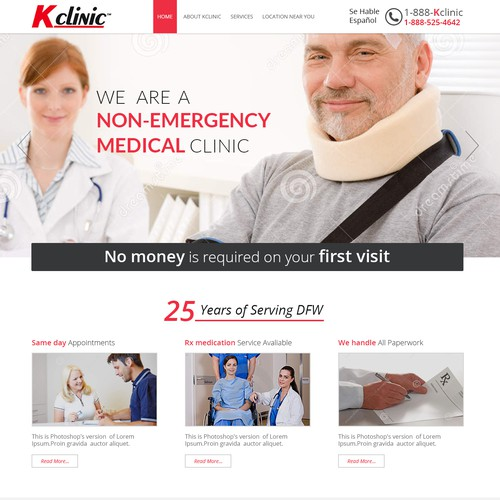 web page design for Medical.