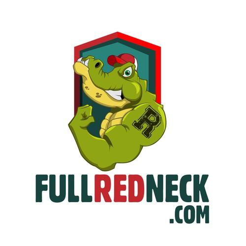 Crocodile mascot for a site logo