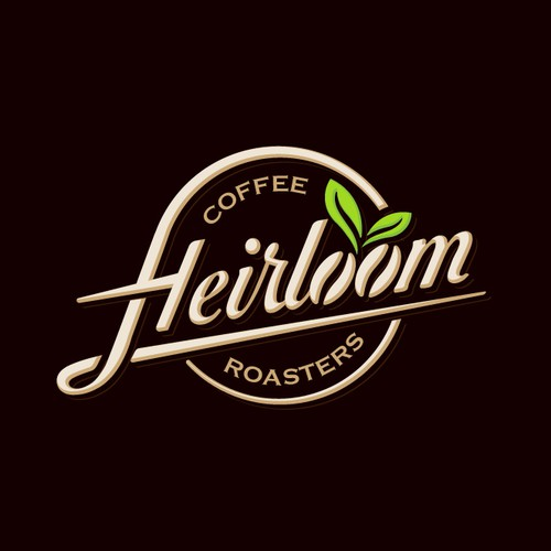 Custom typography for a coffee company