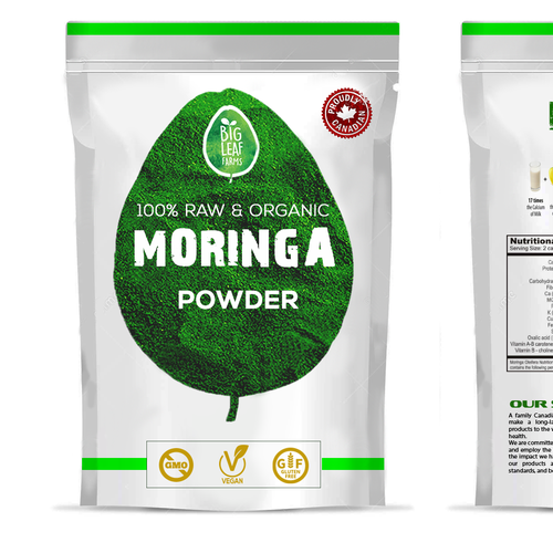 VEGAN SUPERFOOD POWER PROTEIN package desihn