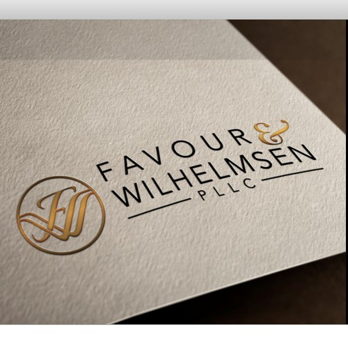 Sophisticated law firm logo