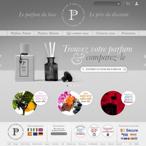 Classy website for perfumer