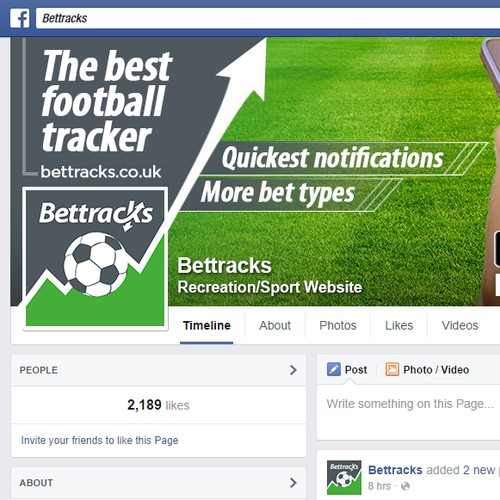 Facebook Cover for a Leading Sports Betting App